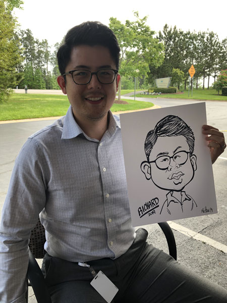 Company Event party Caricatures Charlotte NC