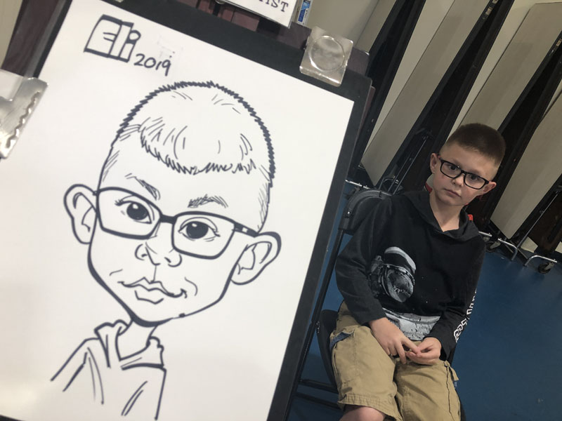 School Event Caricatures Raleigh NC