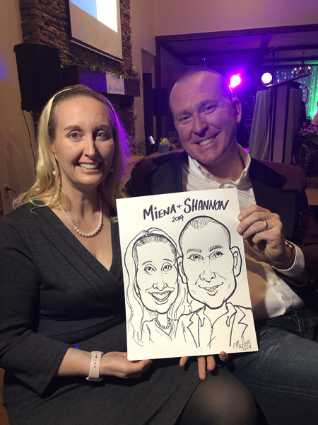 Party Caricatures By Eric Melton