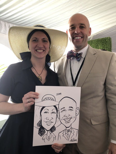Lunch Event Caricatures by Eric Melton