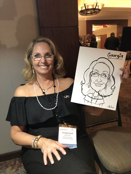 Womens Conference Caricatures By Eric Melton
