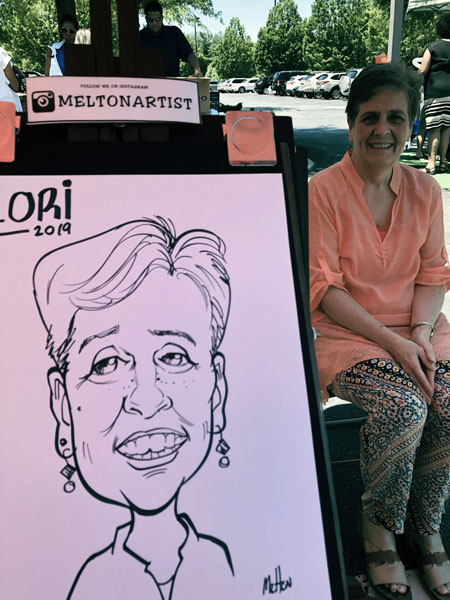 Company Picnic Caricatures