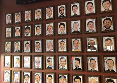 Red Rocks Birkdale Celebrity Wall of Fame